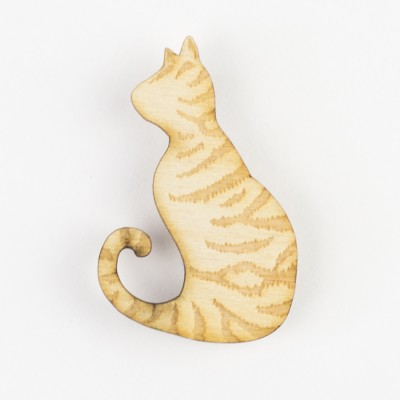 tabby cat, cats, cat brooch, love cats, wooden cat, cat badge, cat brooch, hello sunshine, pets, unique jewellery
