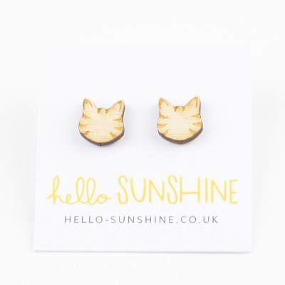 Hello Sunshine LittleTabbyCat studs