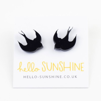 Hello Sunshine Swallow studs