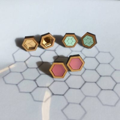hexagon-geometric-stud-earrings