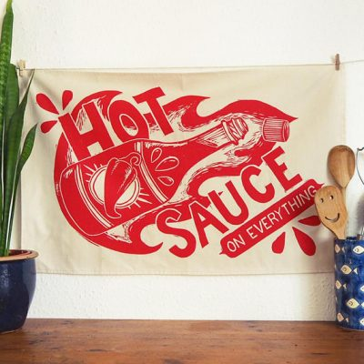 Hot Sauce Teatowel