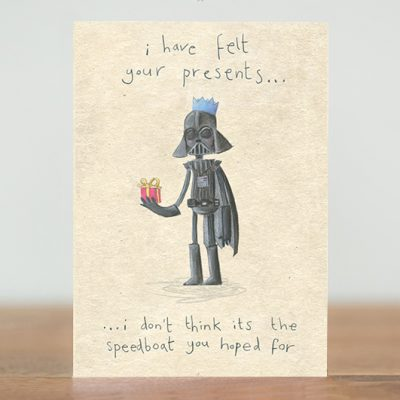 I have felt your presents card
