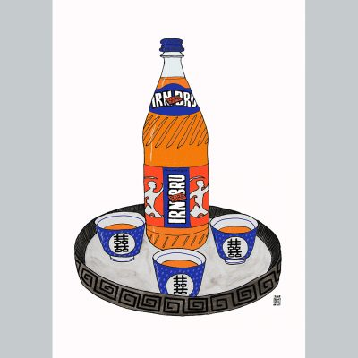 IRN BRU TEA SET SOCAIL MEDIA