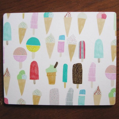 Ice cream placemat