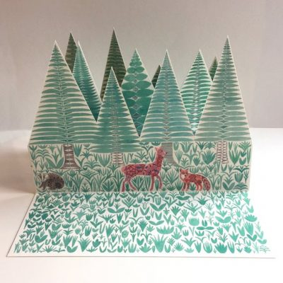 Illustrated paper forest