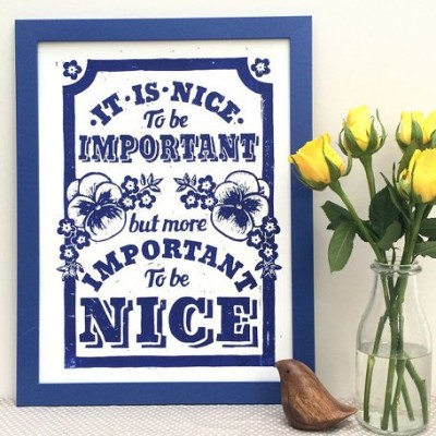 Important to be Nice - White