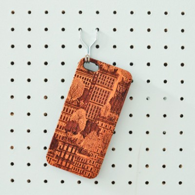 Juniper phone case on peg board by The Joy Collection