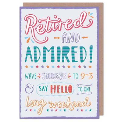 Retired And Admired Card