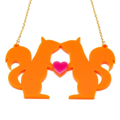 Kissing Squirrels Necklace