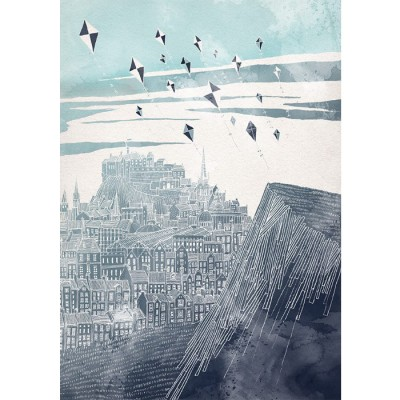 Kites at Dawn signed print by David Fleck