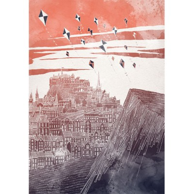 Kites at Dusk signed print by David Fleck