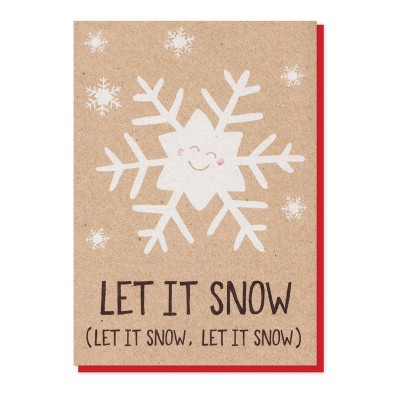 Let It Snow Christmas Card by Stormy Knight
