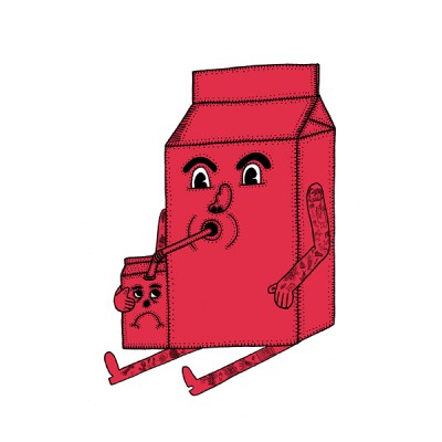 MILK CARTON_RED