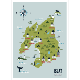 Map of Islay by Kate McLelland