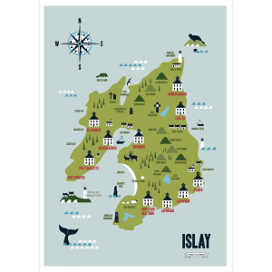 Map of Islay