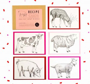 Meat Recpie Notecards by Wit Shop