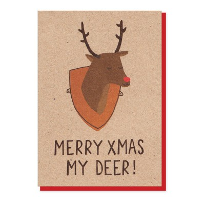 Merry Christmas My Deer Card by Stormy Knight