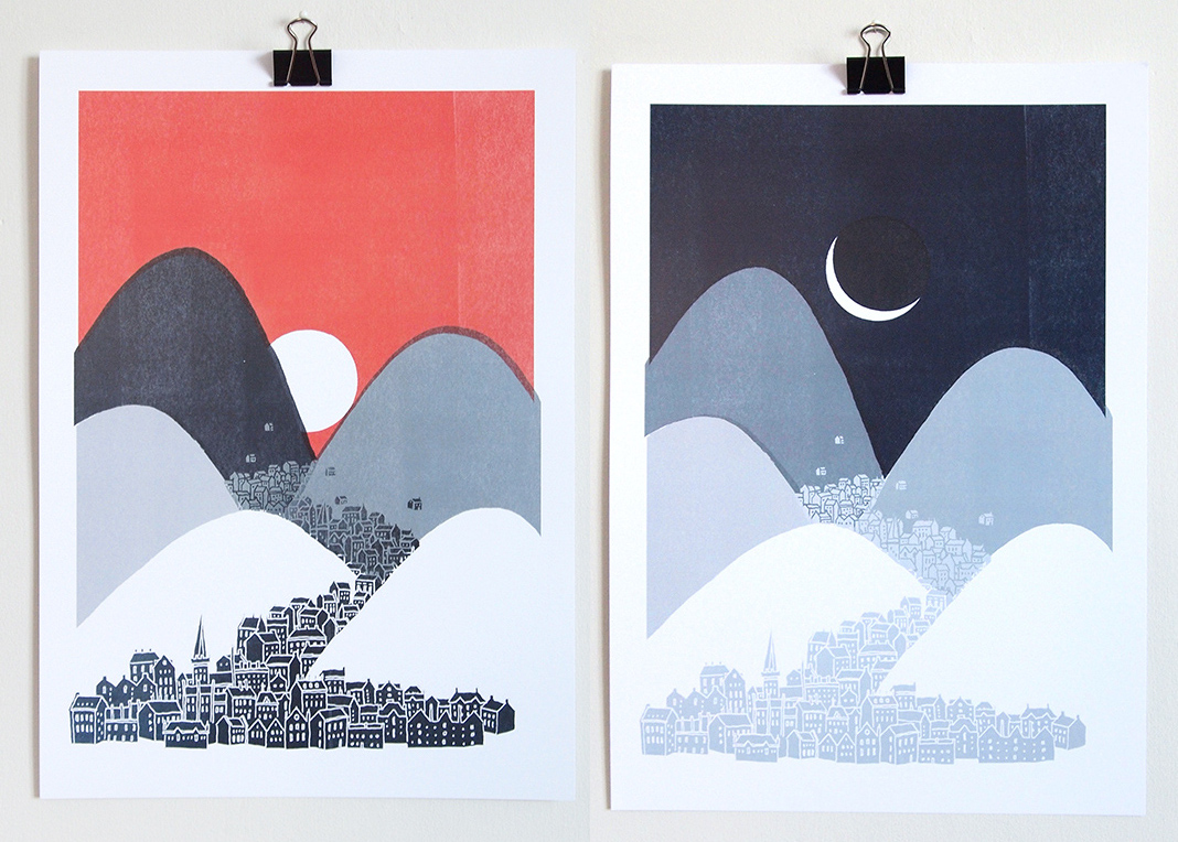 Midnight Sun and Bleak Midwinter by david fleck at the red door gallery