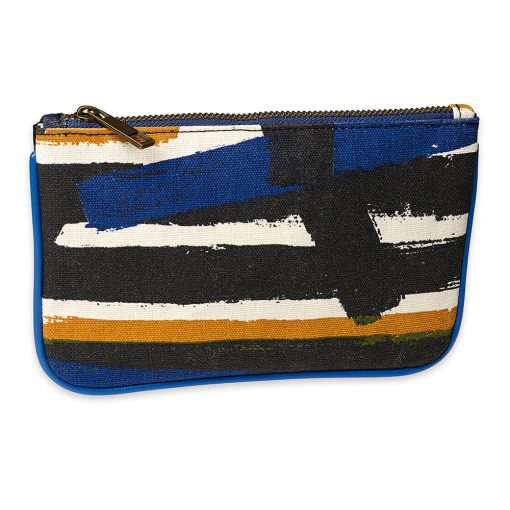 Brush stroke pouch the perfect summer purse or mini makeup bag