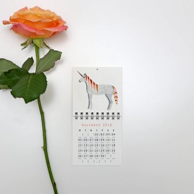 Mini unicorn calendar
