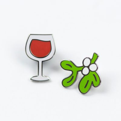 Mistletoe and Wine Pins