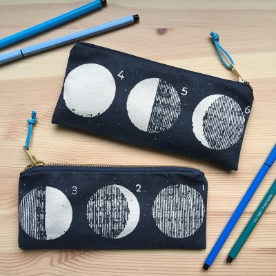 Moon phases pencil case