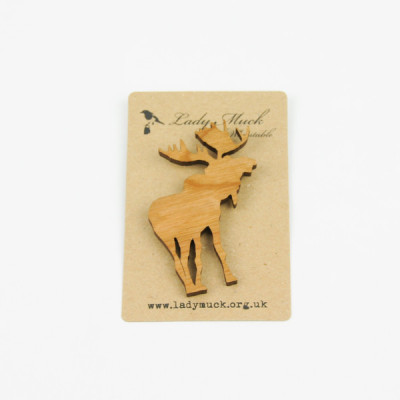 Moose brooch