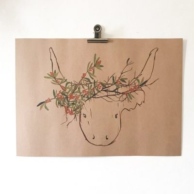 Mr Highland Cow Print
