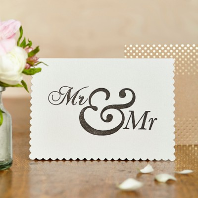 Mr and Mr card by Katie Leamon