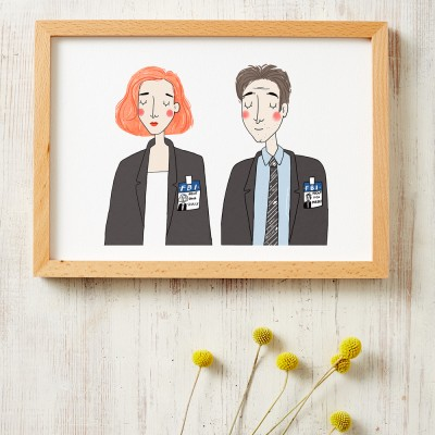 Mulder and Skully Print