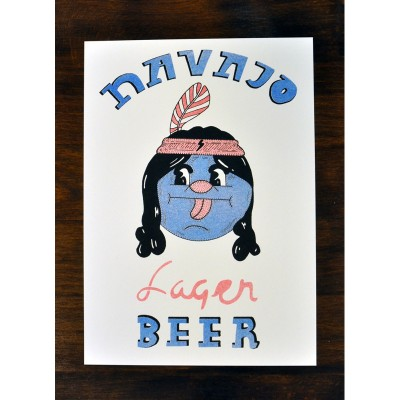 Navajo Beer print by Rich Fairhead A4