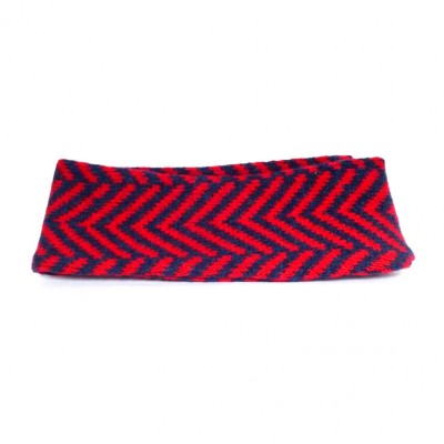 Navy and Red Chevron headband by Wee Beauties