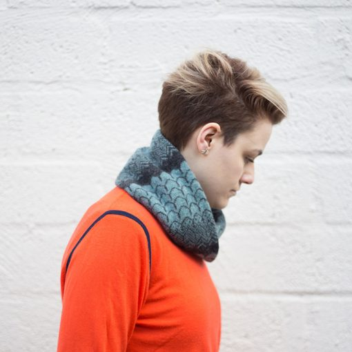 New Wave Twist Scarf by Mixter Maxter Knitwear
