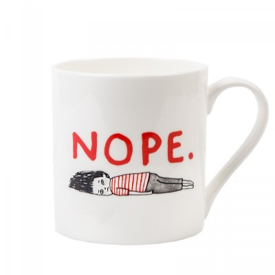 nope mug, gemma correll, can't be bothered, fed up