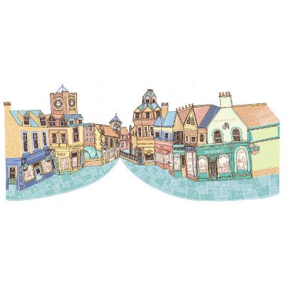 North Berwick High Street by Eilidh Muldoon at The Red Door Gallery