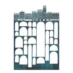 Edinburgh Vaults print by David Fleck from The Crag and Tale Exhibition curated by Nicky Brooks