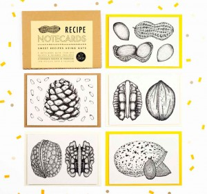 Nut Recpie Notecards by Wit Shop