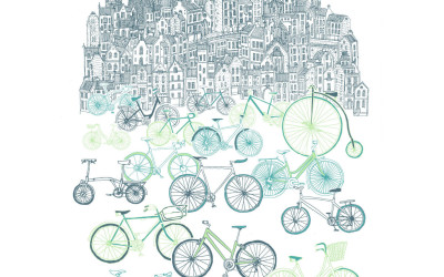 Exclusive new prints in by David Fleck – introducing Old Town Bikes and Juniper.