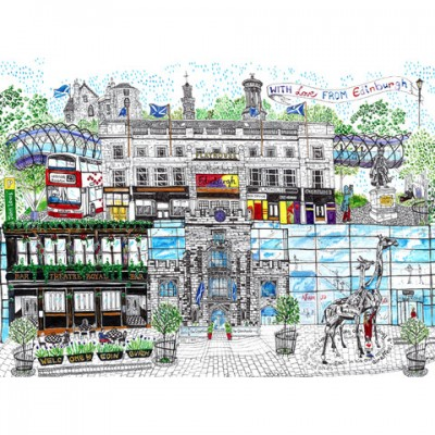 Omni Centre print by Libby Walker