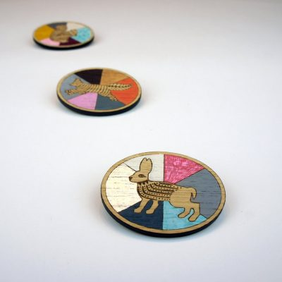 Paint chart brooch