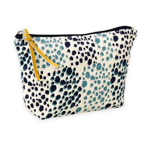 panther print, screen printed, makeup bag, wash bag,