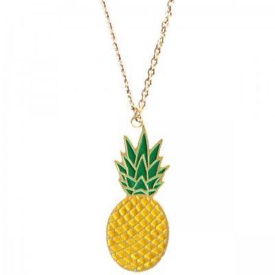 pineapple necklace, enamel jewellery, acorn and will, fruity