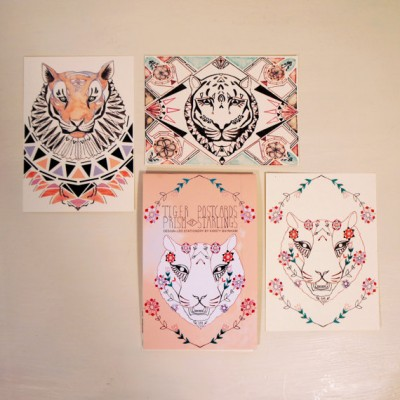 Postcard Book - Tigers