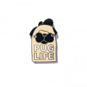 pug life, pugs, enamel pins, jolly awesome