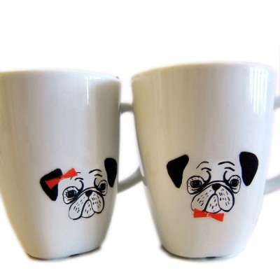 Pug Porcelain Stickers