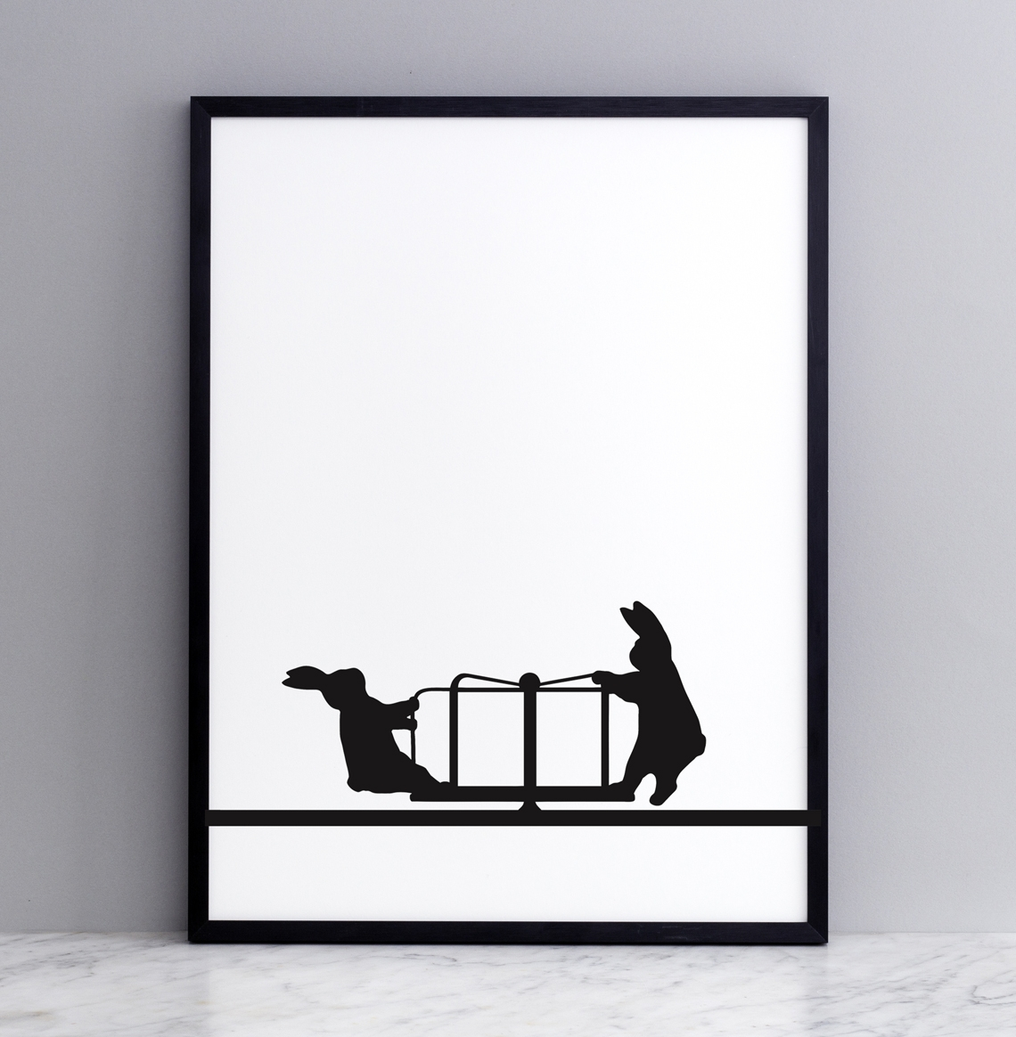 Roundabout Rabbit Print - Framed Prints (approx A3 Size), Screen ...
