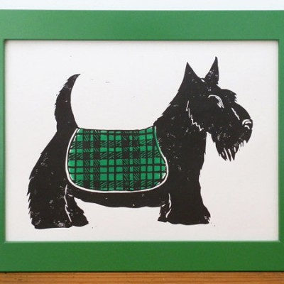 Scottie Dog Black and Green