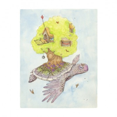 Seasonal Turtle Summer signed print by Hannah Botma