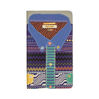 Colourful, patterned Shirt Hardbacked Notebook