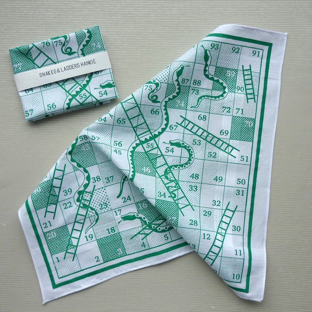 Snakes and Ladders Hankie by Mr PS